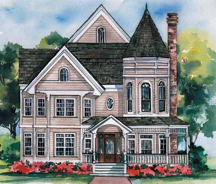 Queen Anne House Plan with 2996 Square Feet and 5 Bedrooms from Dream Home Source | House Plan Code DHSW54049