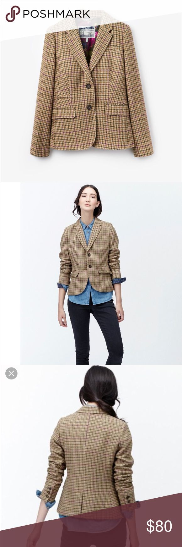 🆕NWT Joules Portman Dogstooth Blazer Brand new with tags, adorable floral lining. Classic. Joules Jackets & Coats Blazers