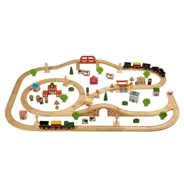 Order Your Tidlo 100 Piece Wooden Train Set With FREE Delivery From The Toy  Centre UK