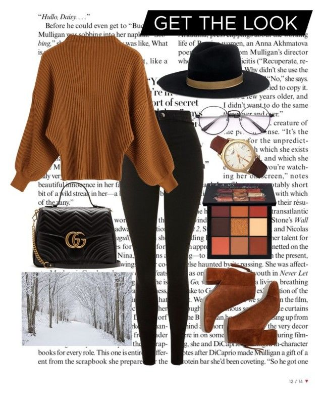 """""""Winter winter ❄️❄️"""" by raneliperera on Polyvore featuring Topshop, Madewell, Janessa Leone, Gucci, Longines and Huda Beauty"""