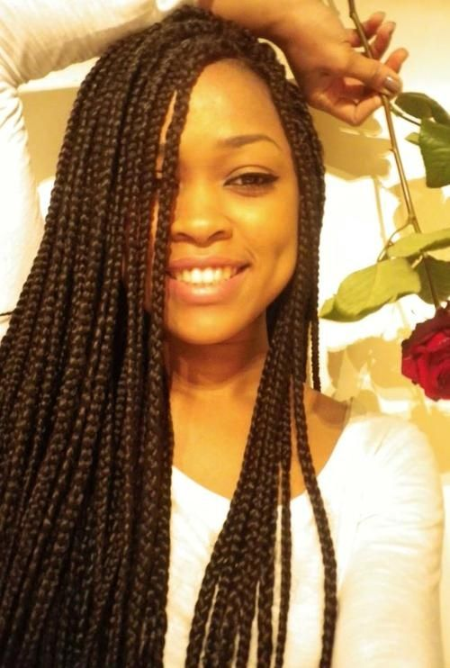 African Kinky Twist Braid Hairstyles