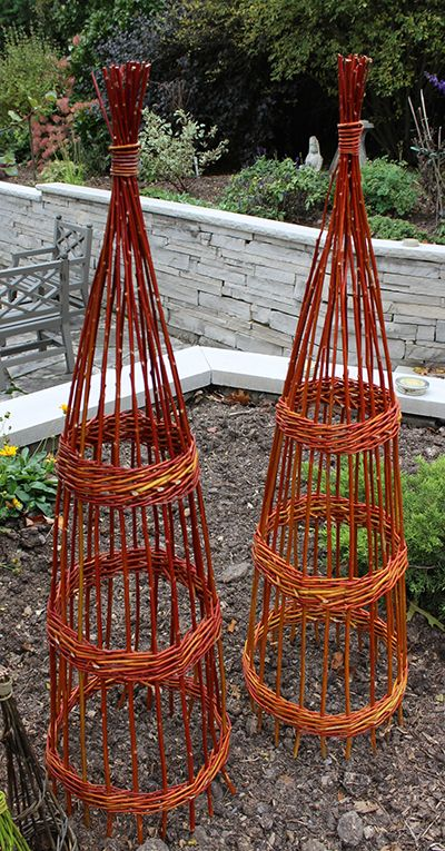 Fresh Flame Willow Obelisks by The Branch Ranch