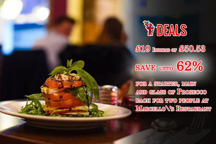 £19 instead of up to £50.30 for a #starter, main and #glass of #Prosecco each for #two #people, £37 for #four #people at #Marcello\'s #Restaurant, #Glasgow #city #centre - #Save up to 62% http://www.grabdeals.today/uk-en/deal_detail/78424