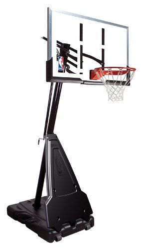 "Portable Basketball Hoop Review: Spalding Portable Basketball System - 60"" Aluminum Trim Acrylic Backboard"