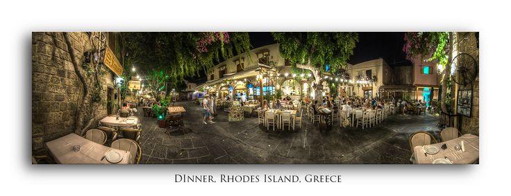 Nightlife Pano - Rhodes, Greece by Bora Baysal on 500px