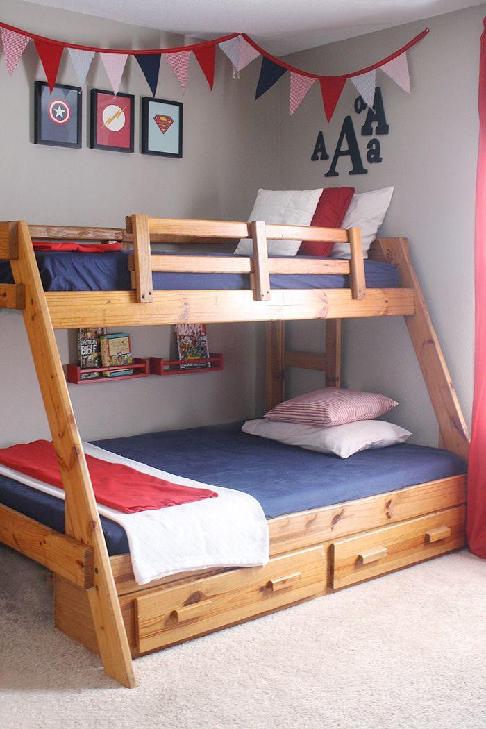 Ashlee Proffitt: House & Home: Little Boys Room | Shared Boys Room | Red, Navy, Gray