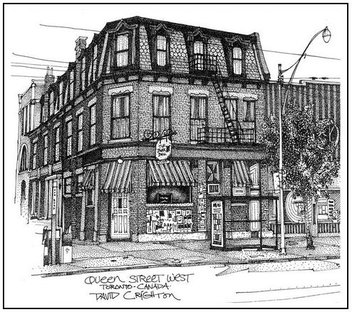 The Black Bull Tarvern - One of 5 of the oldest pubs in the city #historic #landmark My #illustration recently donated to the #toronto Public LIbrary