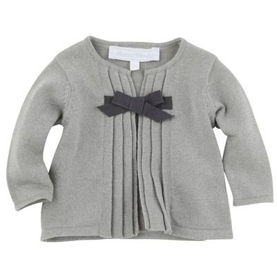 Tartine et Chocolat Shiny light grey knit cardigan Grey