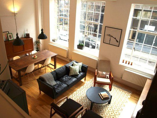 giant windows, the furniture, space: Big Window, Living Rooms, Open Plans, Living Spaces, Open Spaces, Jane Open, Apartment Therapy, Open Floors Plans, Small Spaces