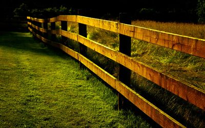 Countryside fence wallpaper