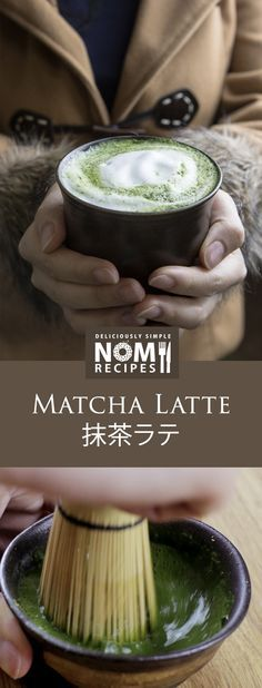 Only 139 calories. Swap your coffee with this silky smooth and creamy matcha latte. Filled with #antioxidants #latte #matcha #green_tea nomrecipes.com