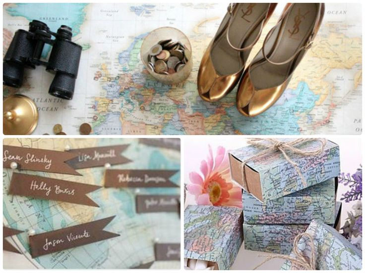 Travel Inspired Weddings Map Favorbox