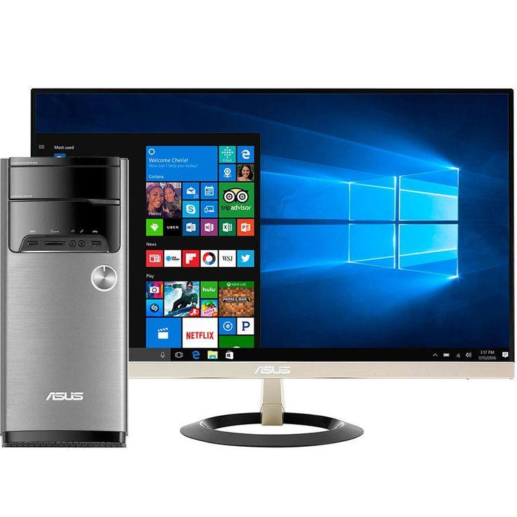 "Asus - VivoPC M32CD-B12 Desktop & 27"" IPS LED Full HD Monitor Package"