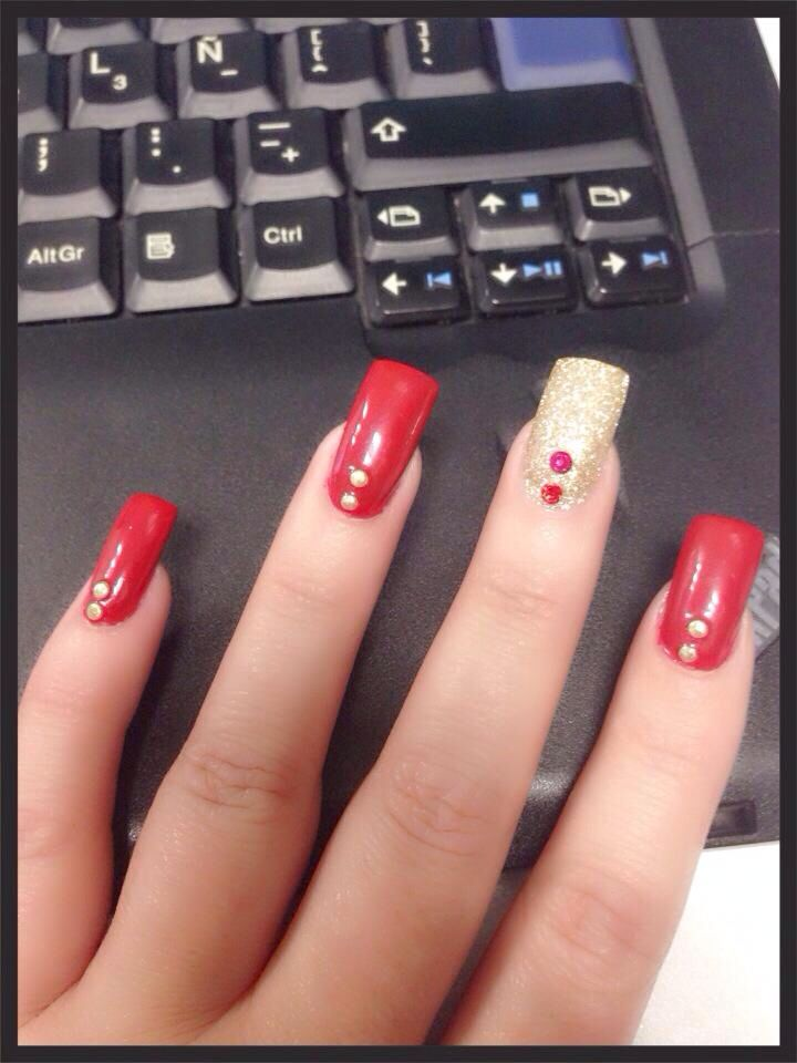 Diciembre Mis uñas Rojas!! | Uñas | Pinterest | Manicure