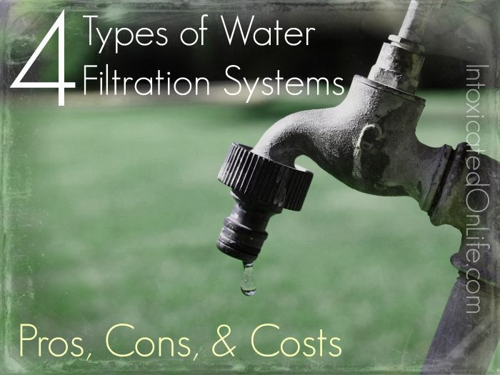 What you need to know about the 4 Types of Water Filtration Systems- pros, cons, and costs