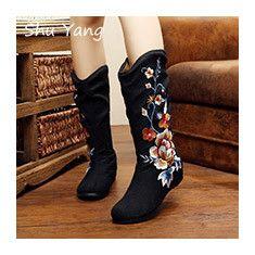 Aliexpress.com: Comprar 29 colores forman a mujeres de pekín Mary Jane de mezclilla talón plano pisos con bordado únicos zapatos ocasionales suaves más el tamaño 41 de calcetines de pisos fiable proveedores en Shenzhen  Shuyang Trade Co.,Ltd