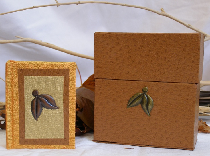 'Leaves' Miniature Book and Box | wowthankyou.co.uk  £20