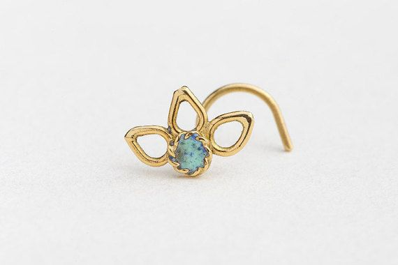 Nose Stud Nose Pin Flower Nose Stud Gold Nose by StudioMeme
