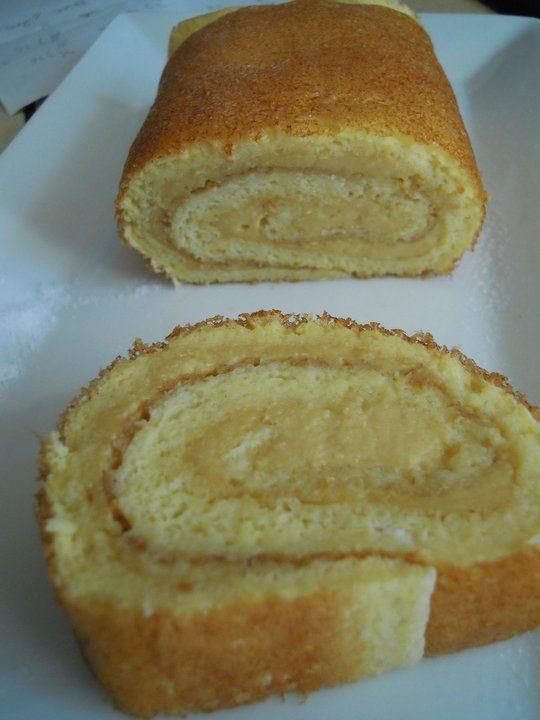Roulé à la crème patissière sans tolérés Dukan (PA)