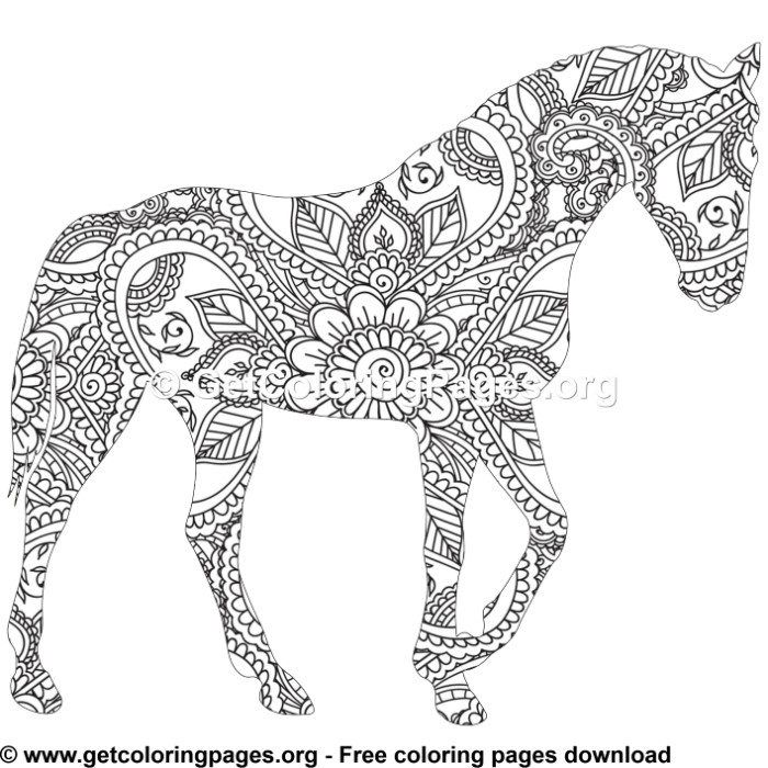Easy 61 Zentangle Horse Pattern Coloring Pages Pattern Coloring Pages Horse Coloring Pages Horse Pattern