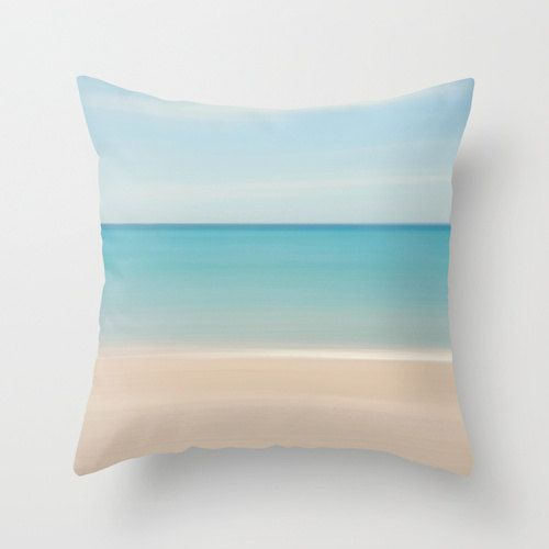 Beach Decor Photography Pillow Beach Cottage Living by klgphoto