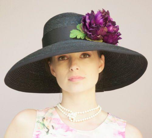New Wide Brim Kentucky Derby Hat Womens Ladies Church Wedding Formal Dress Hat | eBay