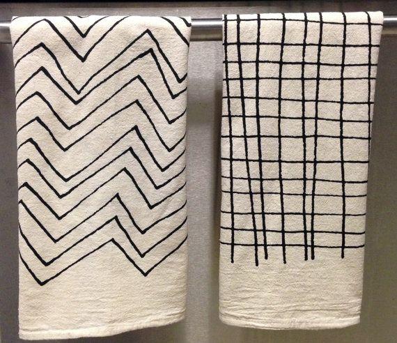 Tea Towel  Screen Printed Organic Cotton Flour by LittleKorboose, $14.00 #LittleKorboose