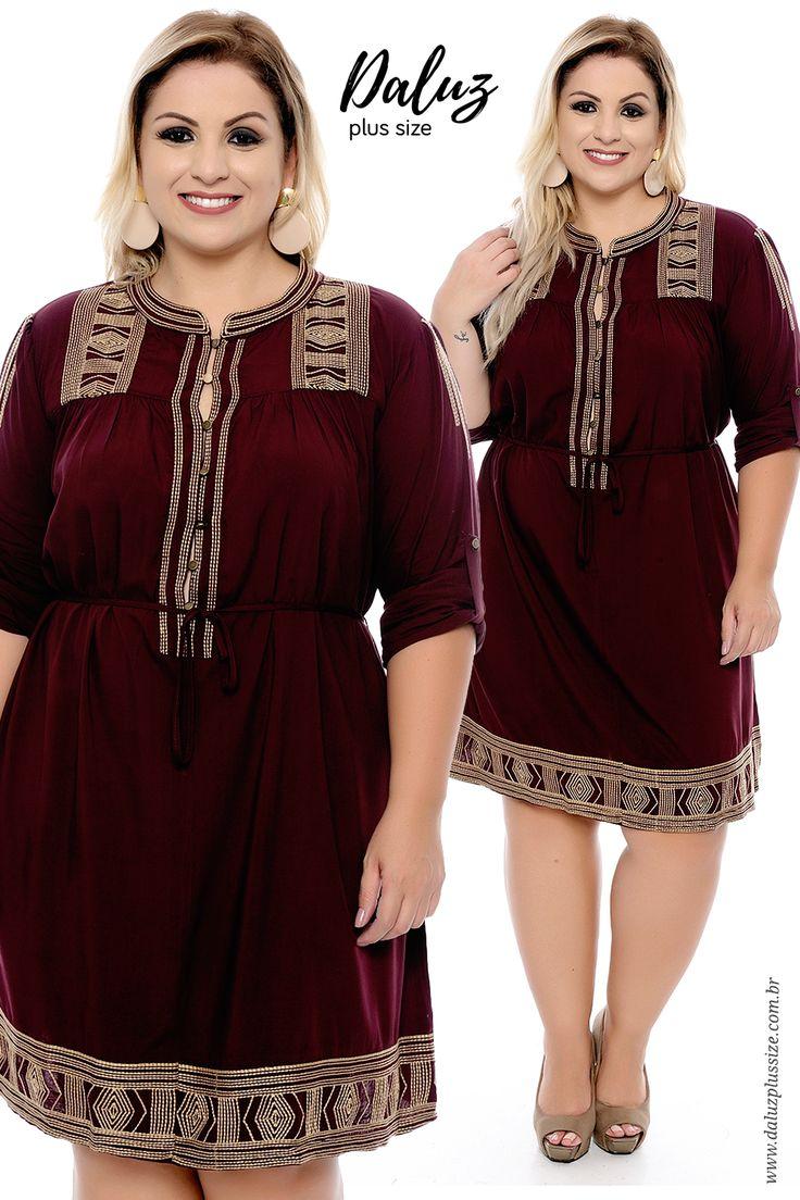 Vestido Plus Size - Coleção Outono Inverno Plus Size - daluzplussize.com.br