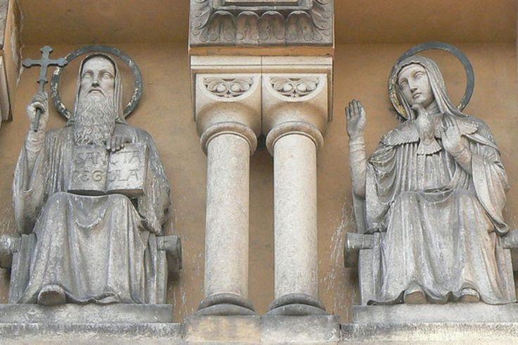 St Benedict & St Scholastica - twins