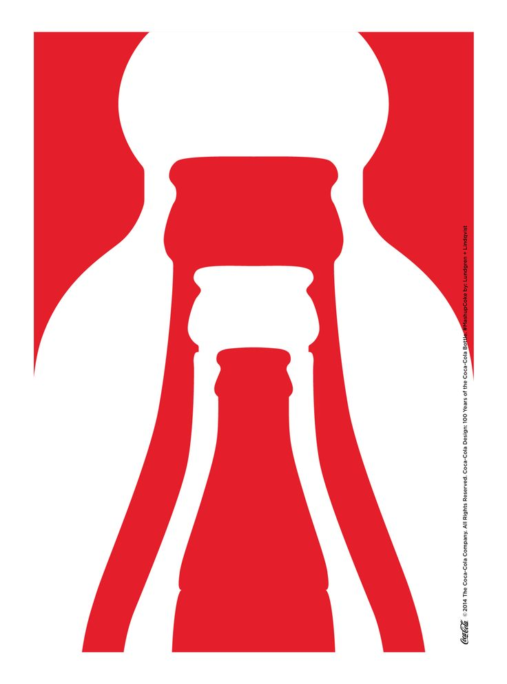 Kiss The Past Hello. Coca-Cola Design: 100 Years of the Coca-Cola Bottle. #MashupCoke by: Lundgren + Lindqvist @LndgrnLndqvst