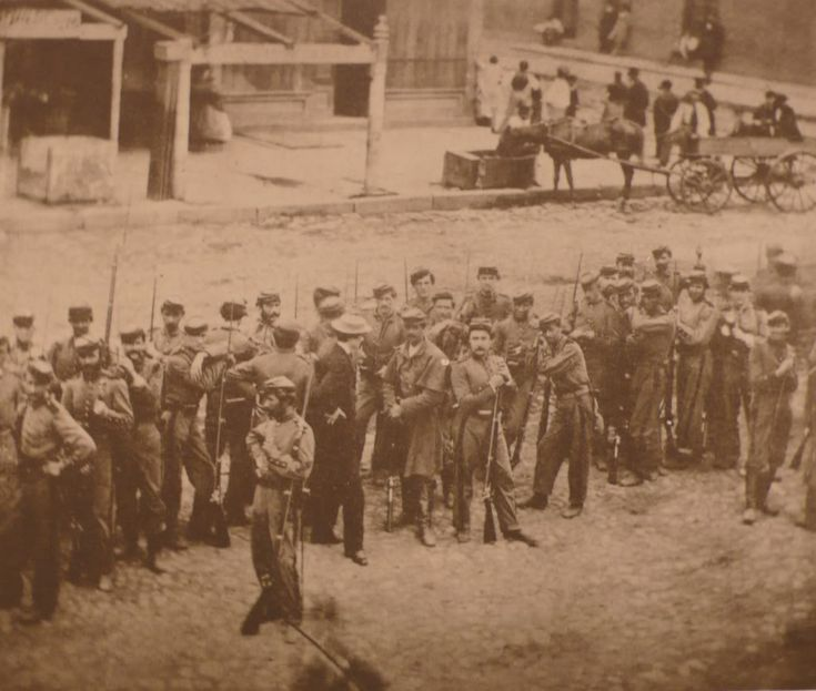 Union soldiers keeping order during the New York City Draft Riots, 1863.