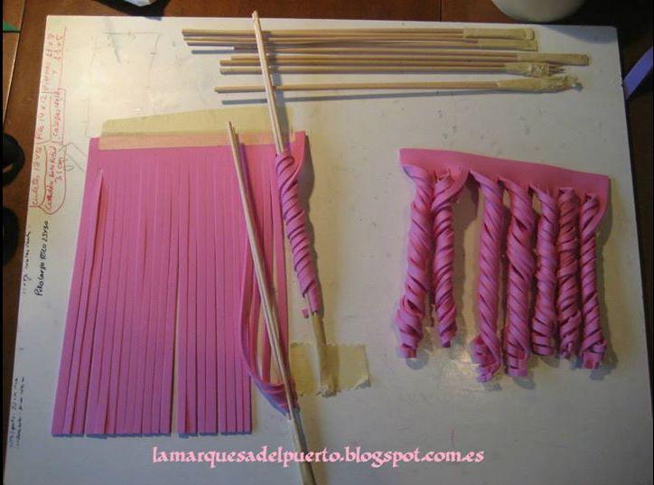 curls for hair... found fb via http://www.facebook.com/1000TutorialsAndMore