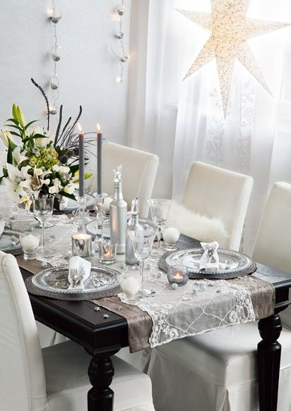 Setting the table for New Year's Eve