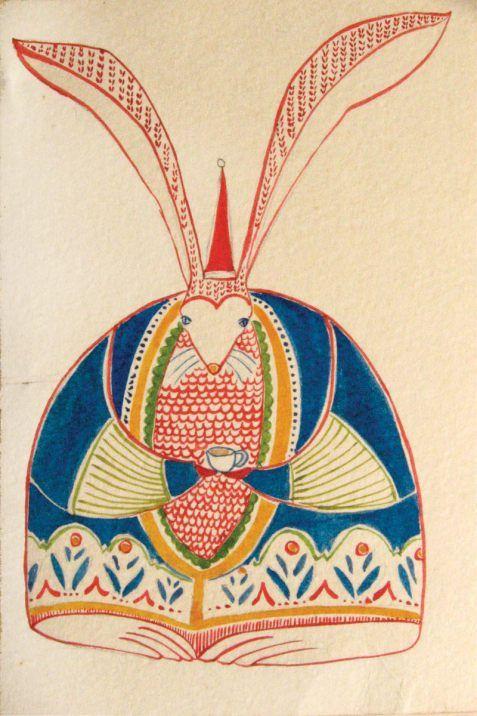 Rabbit Postcard