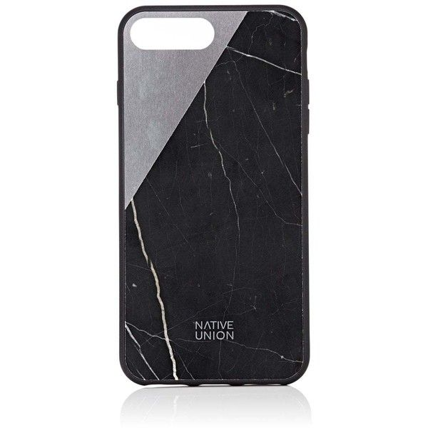 Native Union Men's CLIC Marble iPhone® 7 Plus Case ($90) ❤ liked on Polyvore featuring men's fashion, men's accessories, men's tech accessories and black