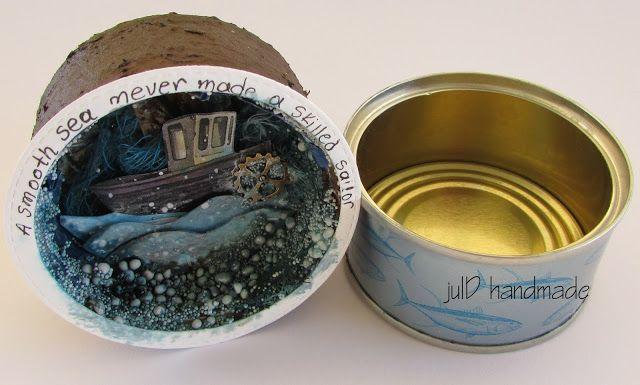julD handmade: Α tiny tuna tin full of sea