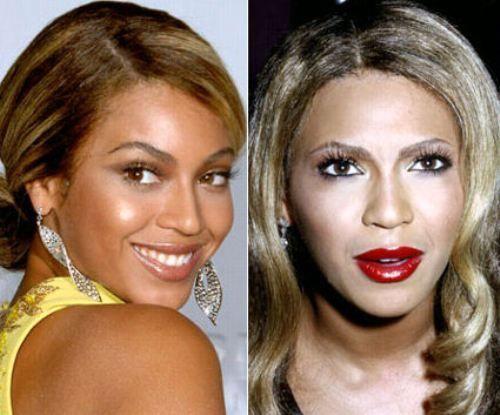 celebrity beyonce makeup fail powder face