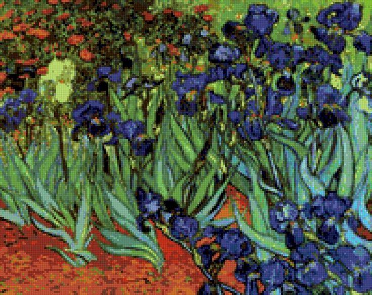 Цветущие ирисы (Ван Гог), предпросмотр