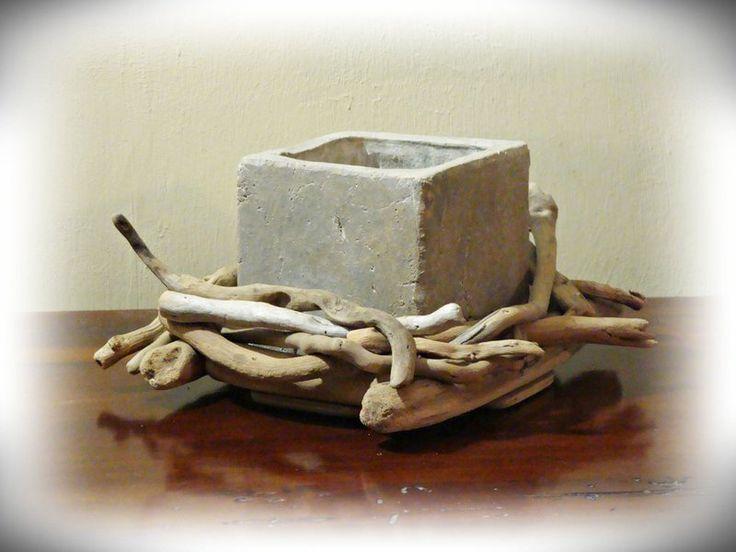 VASO in resina con legni di mare di Tendance nature su DaWanda.com