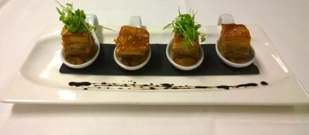 Always a favourite among our diners - Pork Belly at Wild Prawn Café, Bar + Grill