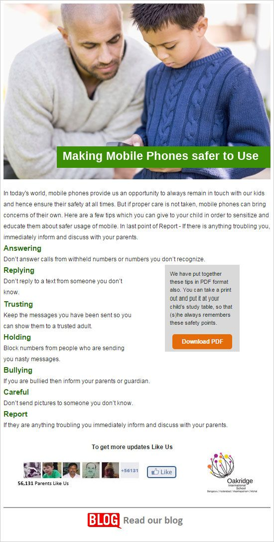 Making Mobile Phones Safer to Use