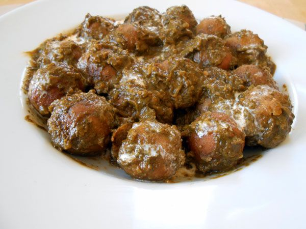Vegetarian Palak Kofta.