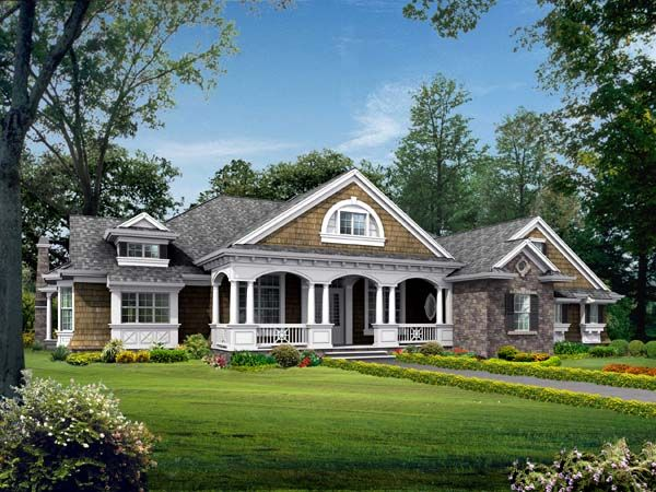 Colonial country craftsman house plan 87646 cow skull for Country craftsman house plans