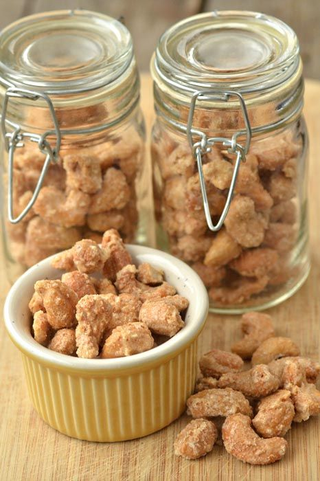 Not exactly an appetizer but a great snack!  Gourmet Candied Cashews Recipe - these are highly addictive.  If you do not like cashew you can use pecans, walnuts or almonds. These would also make a great DIY gift idea or hostess gift. Just place them in a nice glass jar, add a pretty cloth ribbon + cute tag with nice note with the recipe.