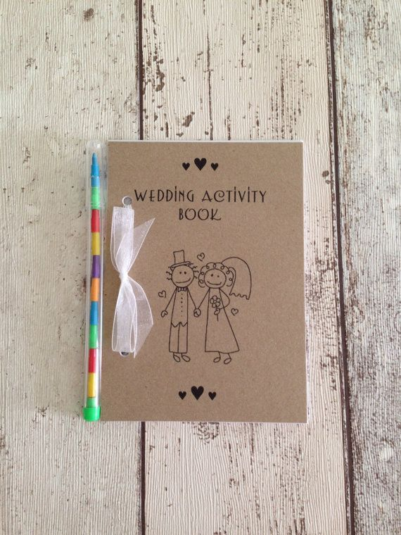 Youngsters's Marriage ceremony Exercise Pack E book Present Favour A6 Classic Fashion Brown Eco Kraft Card