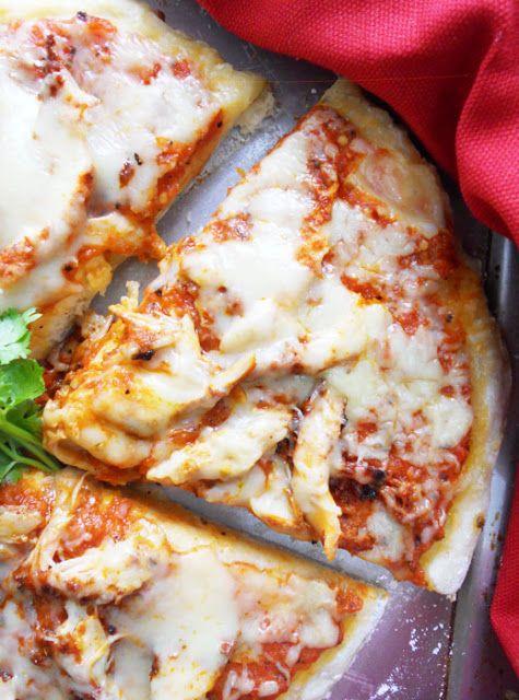 Tandoori Chicken Pizza (no knead food processor pizza dough)