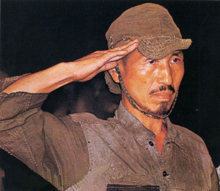 Second World War - Pacific Ocean War -   Hiroo Onoda, it was the legendary last Japanese imperial army soldier, who for decades and decades continued to fight on the Filipino island of Lubong, despite Japan's surrender, and the Second World War was over. shown surrendering in 1974 after World War II ended 29 years previously, died at age 91 from heart failure.