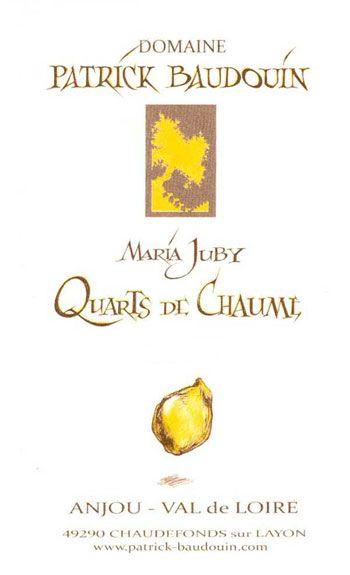 Domaine Patrick Baudouin Quarts de Chaume Maria Juby