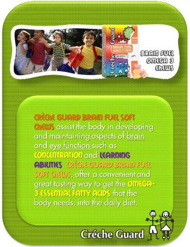 Omega 3 yummy chews. Brain health and development.