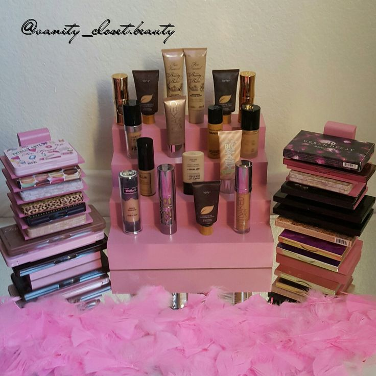 Cuttest Makeup organizers!! Makeup/Perfume Display, makeup palette holder for your Glam Room or vanity room.